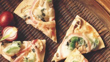 Mushroom Pita Pizzas