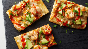 Asian Sriracha Shrimp Flatbread