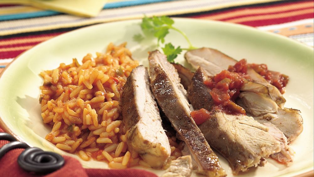 Slow-Cooker Southwestern Spice-Rubbed Turkey Thighs
