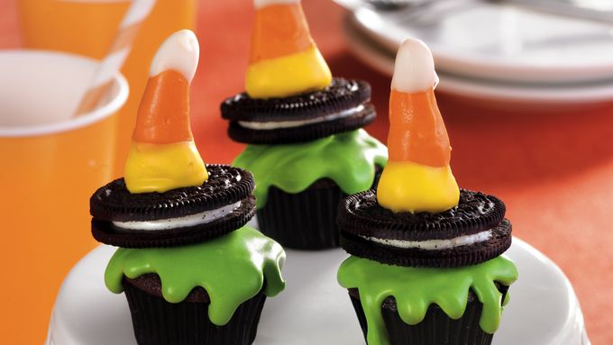 Wicked Witch Halloween Cupcakes