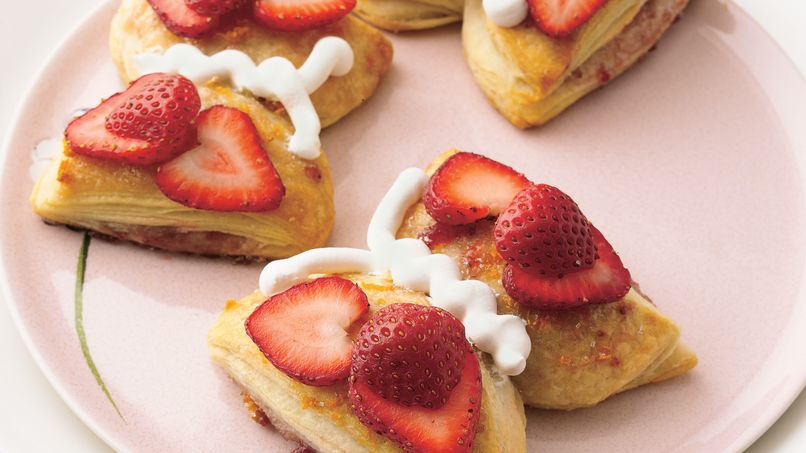 Strawberry-Orange Butterfly Biscuits