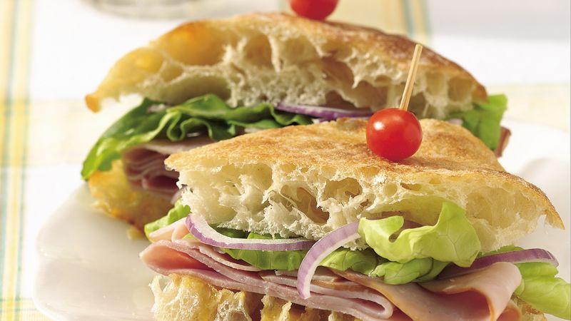 Ciabatta Ham Sandwiches