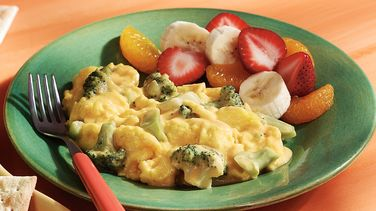 Scrambled Eggs with Broccoli & Cheese