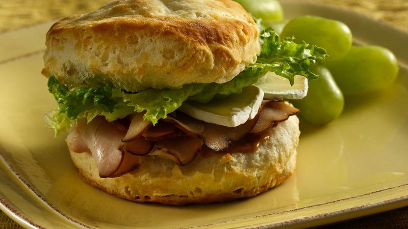 Turkey Brie Biscuit Sandwiches
