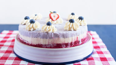 "Red, White and Blue Ice Cream ""Cake"""