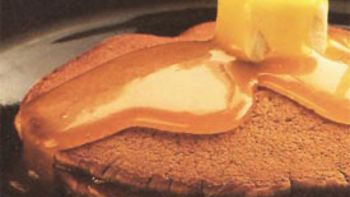 Ginger Pancakes with Lemon Sauce