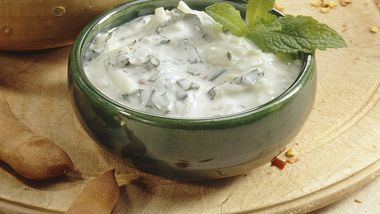 Yogurt with Fresh Mint
