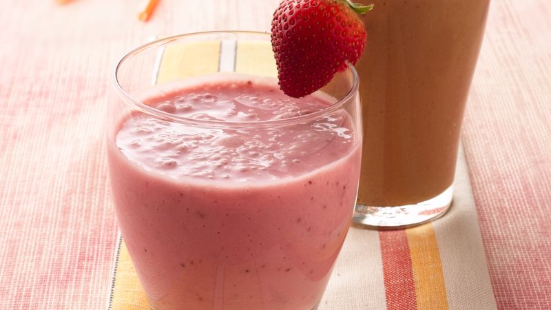 Fresh Strawberry Smoothies