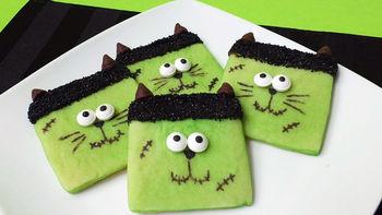 Halloween Frankencat Cookies