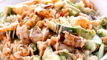 Spicy Shrimp Pasta Salad