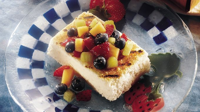 Grilled Angel Food with Fruit Salsa