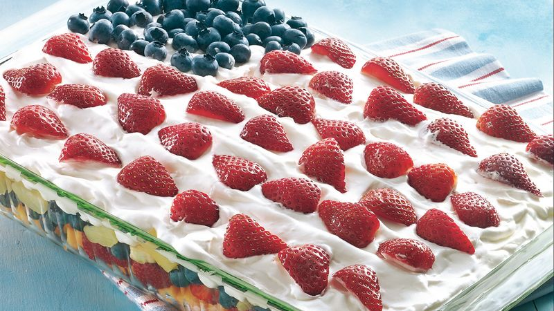 Layered Fruit Flag Salad