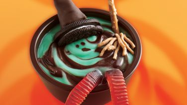 Melting Witch Pudding Cups