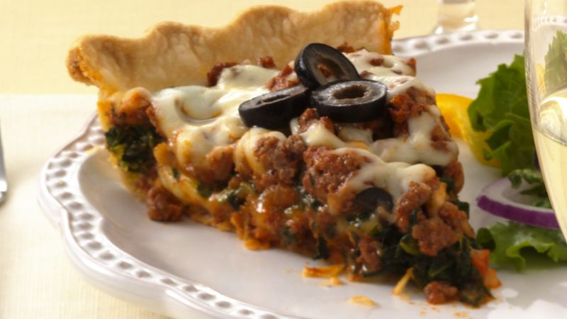 Layered Italian Beef Pie