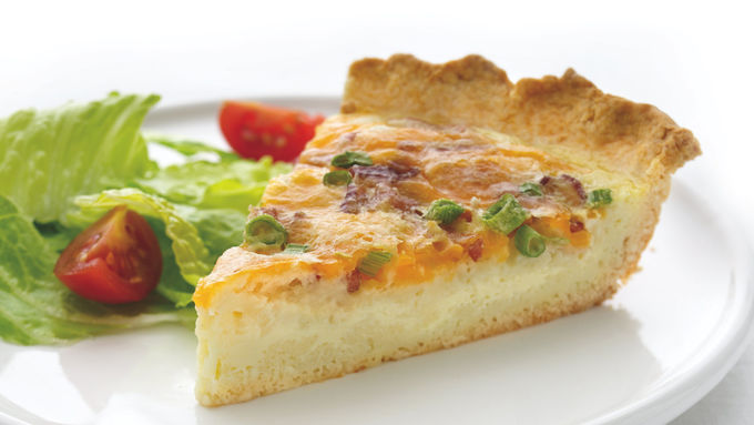 Skinny Cheddar and Bacon Quiche