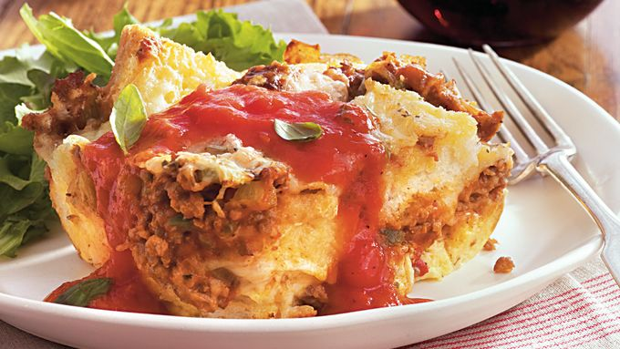 Meat Lover's Bread Pudding