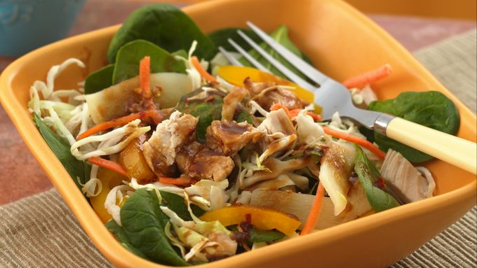 Asian Chicken Salad With Peanut-Soy Dressing