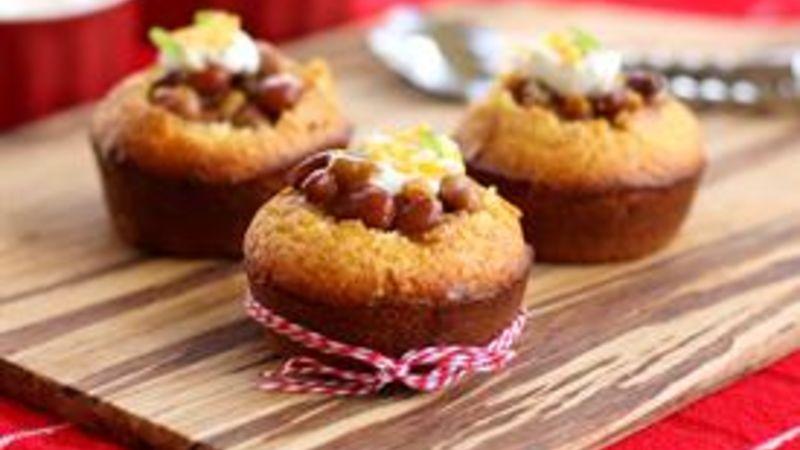 Chili-Stuffed Cornbread Muffins