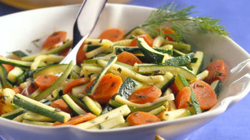 Carrots and Zucchini with Herbs