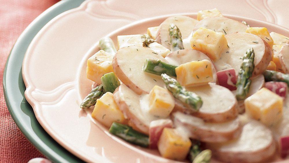 Asparagus-Cheese-Potato Salad