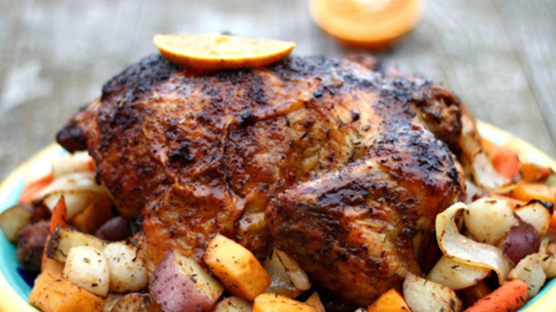 Roasted Chicken with Tangerine Glaze