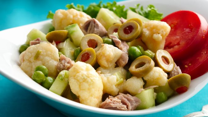 Tuna Cauliflower Salad with Lime Vinaigrette