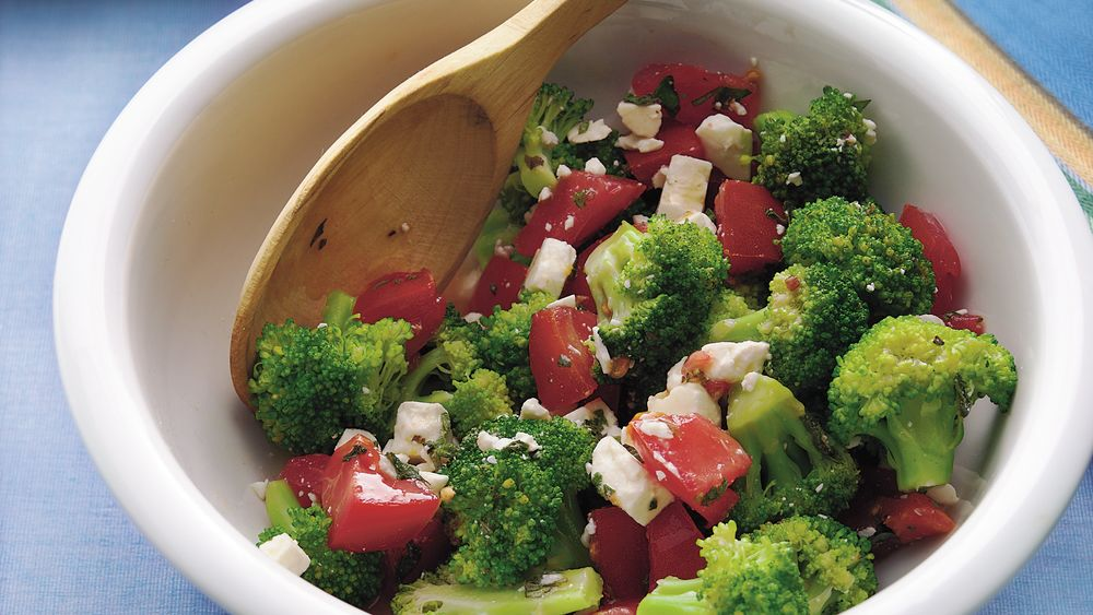 Broccoli, Feta and Tomato Salad