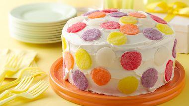 Simple Gum Drop Polka Dot Cake