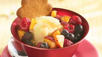 Summer Fruit-Topped Sorbet Sundae