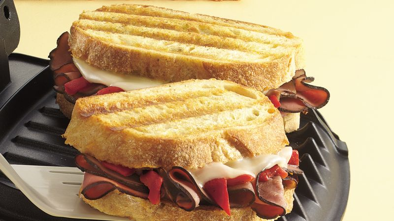 Grilled Beef and Provolone Sandwiches