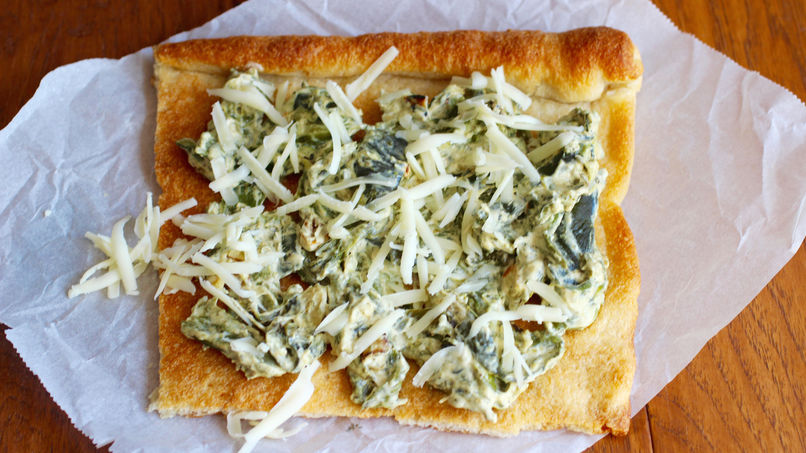 Grilled Pizza with Rajas Poblanas