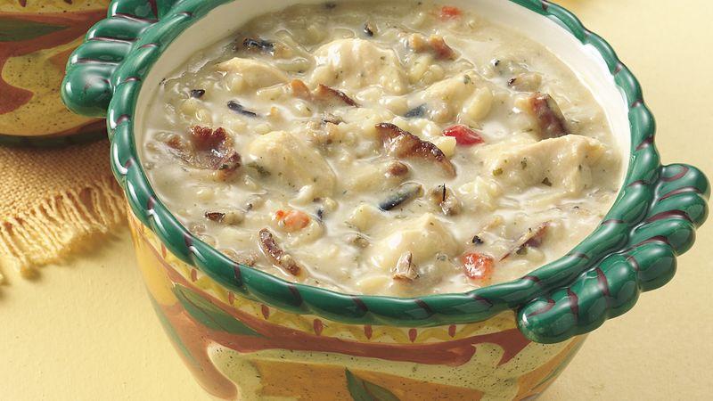 Light Chicken-Wild Rice Soup