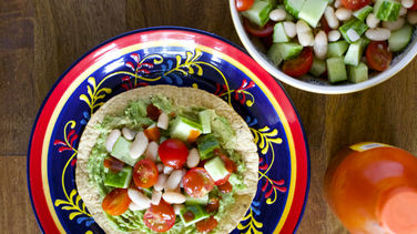 Cucumber and Bean Salad Tostadas