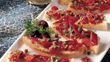 Roasted Red Pepper Bruschetta