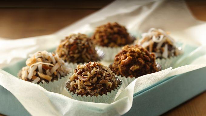 Skinny Dark Chocolate Truffles