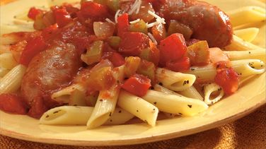 Penne with Italian Sausage and Peppers
