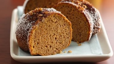 Gluten-Free Cinnamon and Toasted Pecan Crusted Sweet Potato Cake