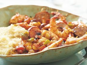 Shrimp, Sausage and Grits