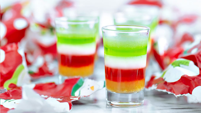 The 5 Layers of Holiday Stress Jello Shot