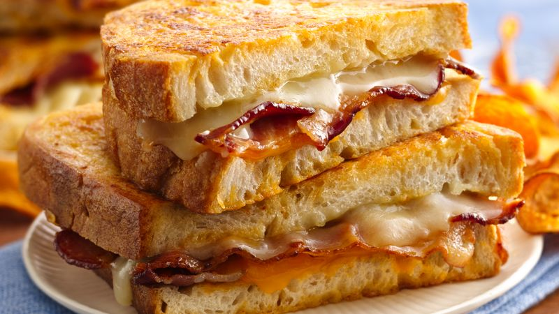Beer Battered Grilled Cheese Sandwiches recipe from Betty Crocker