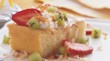Tres Leches Cake with Crema de Coco