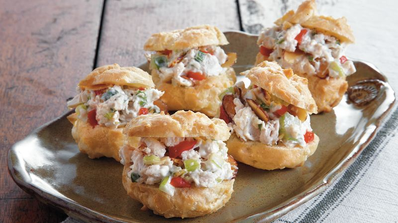 Chicken Salad in Swiss Cheese Puffs