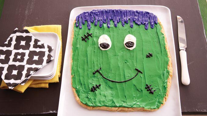 Frankenstein Cookie Cake
