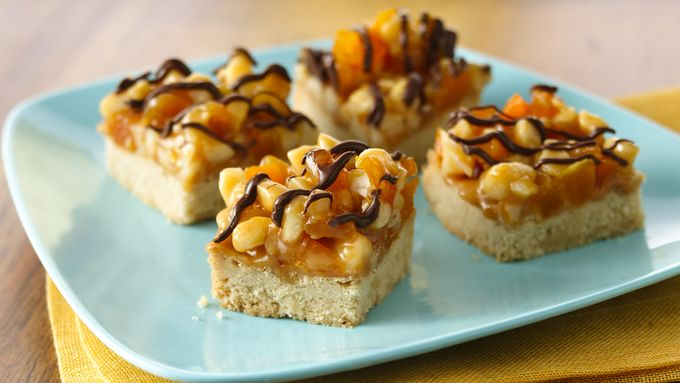 Apricot Macadamia Caramel Bars