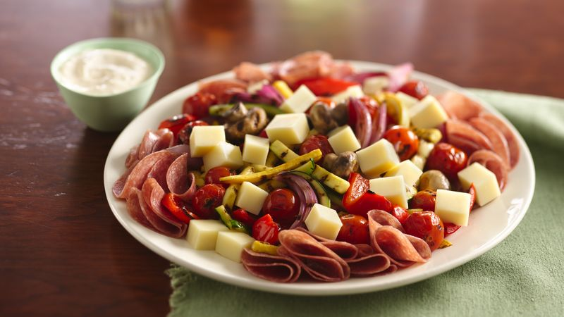 Grilled Antipasti Platter with Lemon Aioli recipe from Betty Crocker