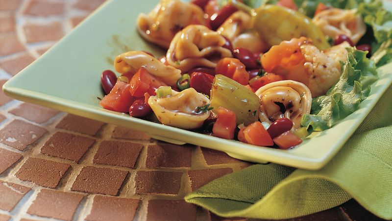 Antipasto Tortellini and Tomato Salad