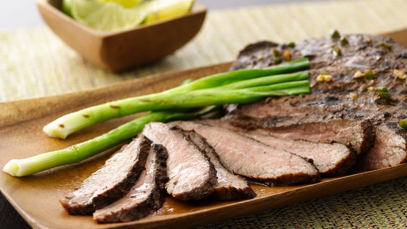 Grilled Jerk Flank Steak