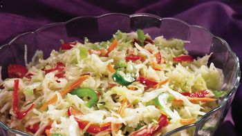 Festive Coleslaw with Citrus Vinaigrette