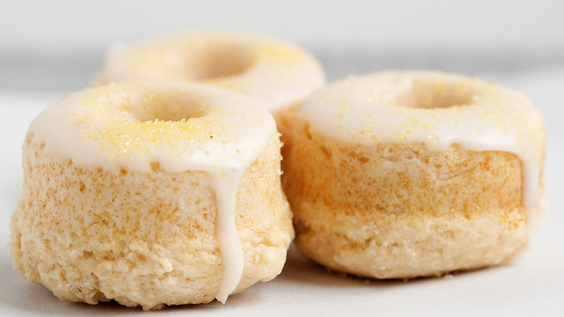 Baked Lemon Doughnuts with Lemon Glaze