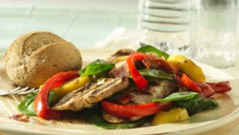 Grilled Turkey-Spinach Salad